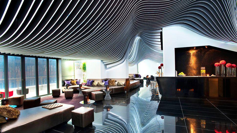 W NEW YORK CITY HOTEL W NEW YORK CITY HOTEL 006827 04 Living Room Bar1  Home 006827 04 Living Room Bar1