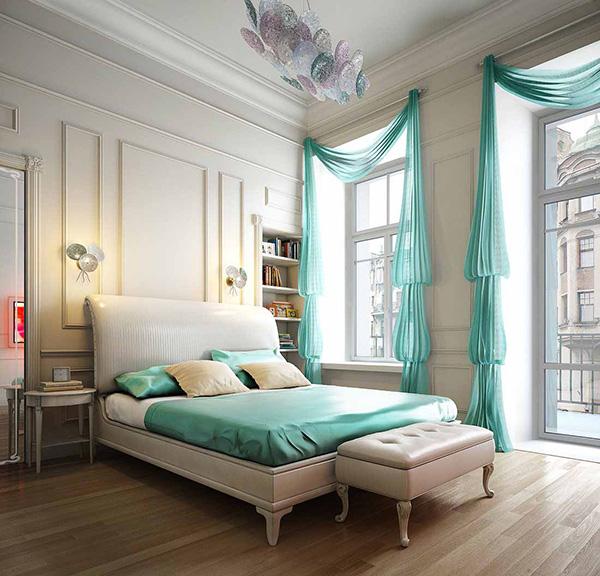 Aqua Bedroom interior decoration BEST INTERIOR's COLOR TRENDS FOR SUMMER: AQUA BEST INTERIOR's COLOR TRENDS FOR SUMMER: AQUA 3 aqua bedroom 1
