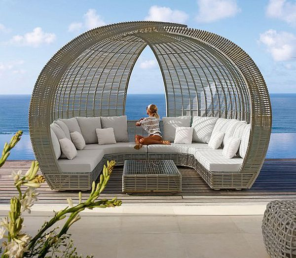 Outside Daybed with ocean view