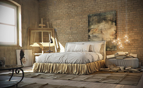 insdustrial bedrooms design style