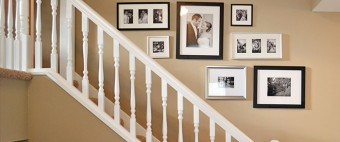 HOW TO: CREATE A GALLERY WALL IN STAIRWELLS