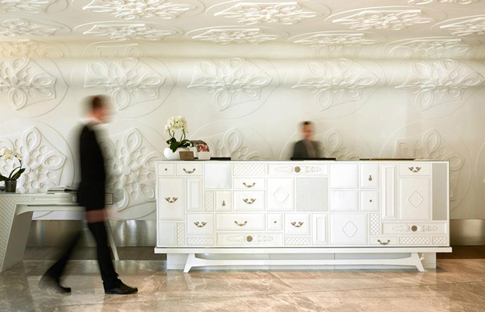 """ Furniture piece copy by Sybille de Margerie at Hotel Paris de Saint - Tropez"""