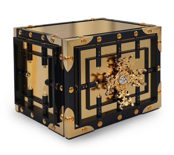 Luxury home furnishing boca do lobo s knox safe home for Luxury home safes