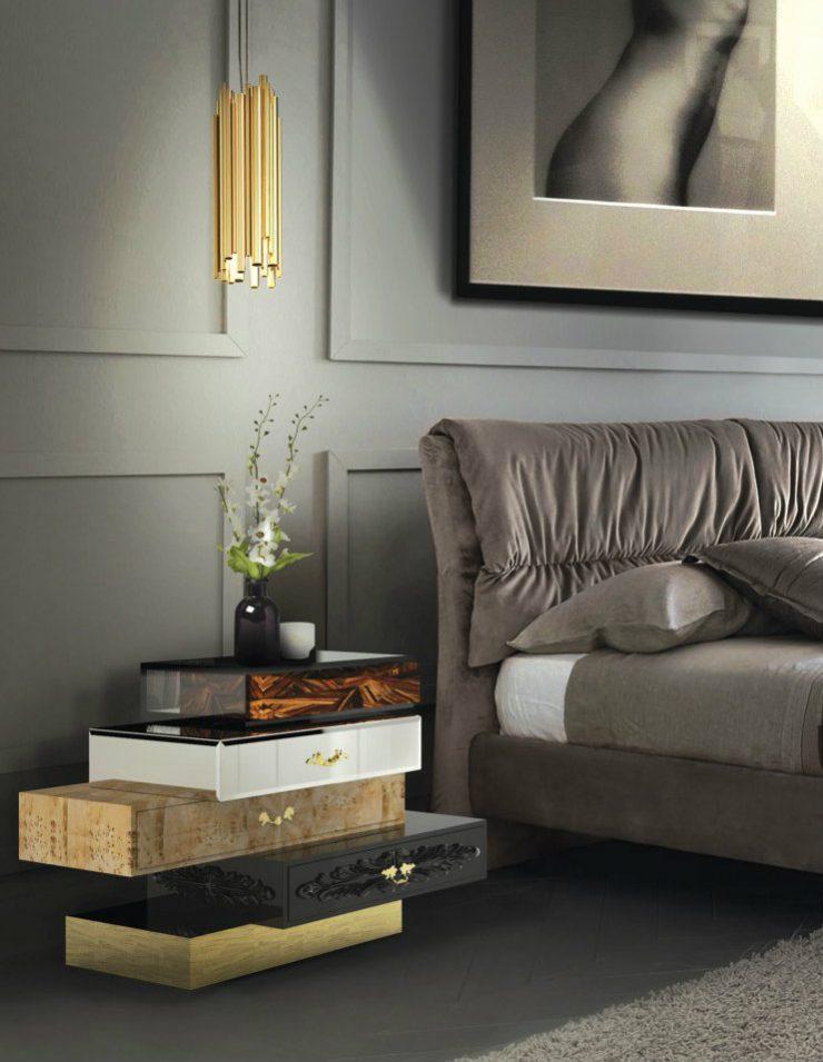 nightstands nightstands 7 Outstanding nightstands by Boca do Lobo for luxury bedrooms 05 Frank nightstand 740x955
