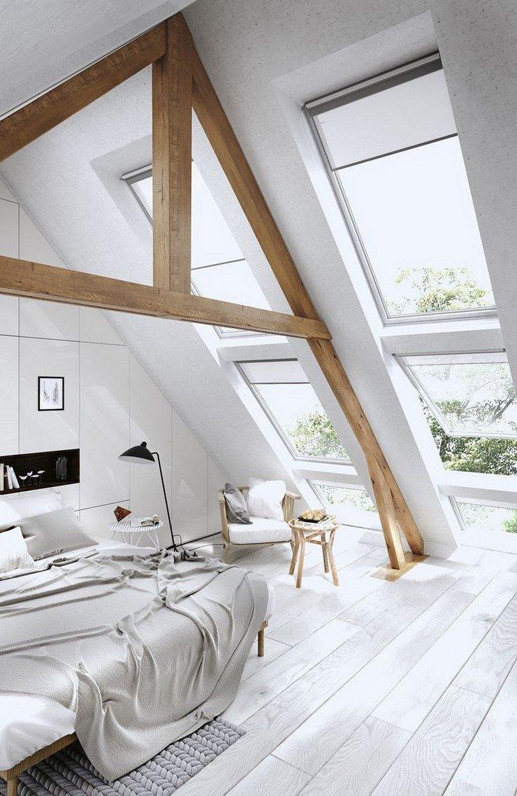 30-cozy-attic decorate a cozy attic 30 Ideasto decorate a cozy attic 30 cozy attic 740x1139