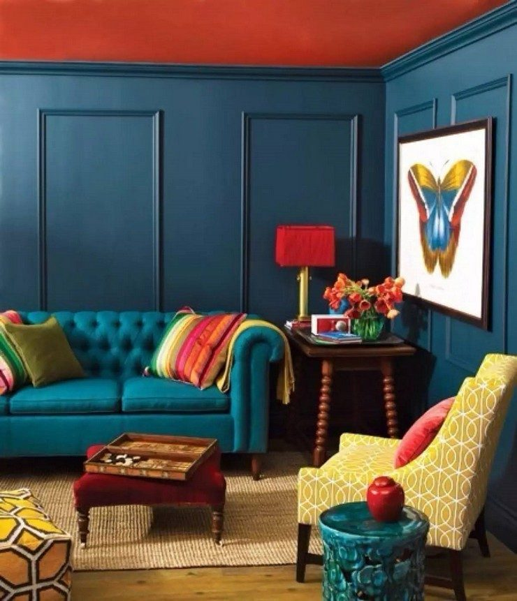 blue room ideas living rooms in blue 50 Stunning Living Rooms in Blue 27 blue room ideas 1 740x861