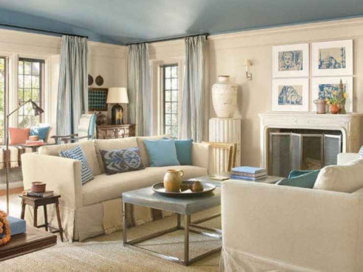 44-blue-room-ideas living rooms in blue 50 Stunning Living Rooms in Blue 44 blue room ideas 740x555