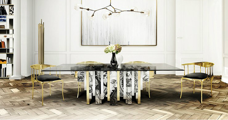 modern dining rooms 25 Glamorous and Modern Dining rooms 0000