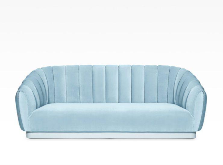velvet sofas velvet sofas 2017 trend for living room: 5 velvet sofas 5 oreas sofa BB 740x548