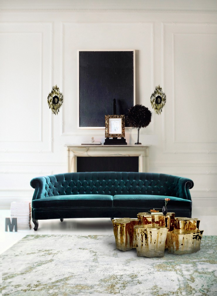 luxury interiors luxury interiors Luxury Interiors with Gilded Pieces of Furniture eden series module table