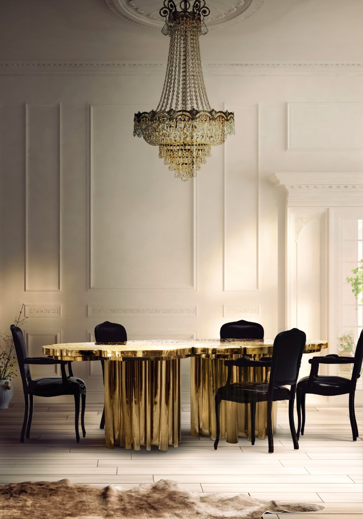 luxury interiors Luxury Interiors with Gilded Pieces of Furniture fortuna