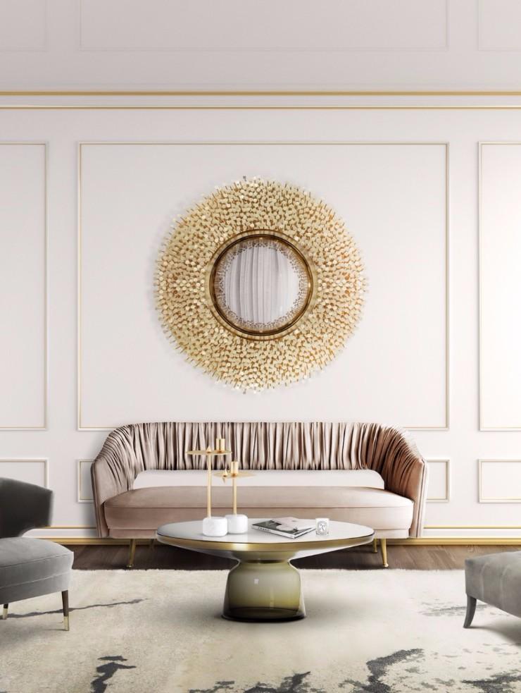 luxury interiors Luxury Interiors with Gilded Pieces of Furniture robin mirror boca do lobo
