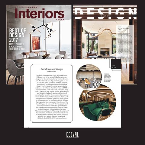 Must See Restaurant and Bar Design by Coeval Interiors