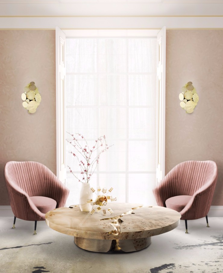 color trends 2018 Color Trends 2018: Light Pink empire center table by boca d o lobo 1