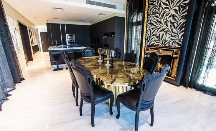 Limited Edition Dining Table limited edition dining table Discover Fortuna, a Limited Edition Dining Table Saadiyat Private Residence by Neat Interior Design 5