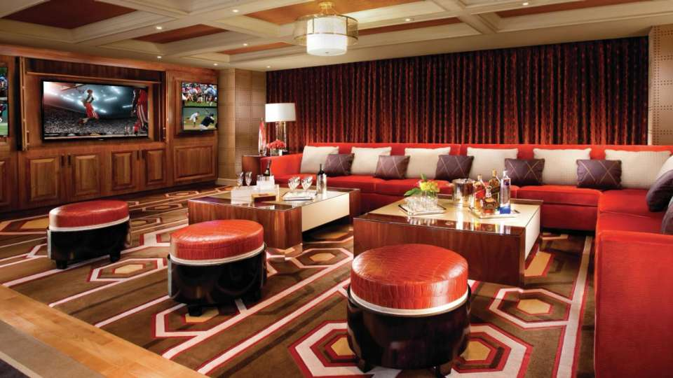 the best in lodging The best in lodging: Meet MGM Resorts! bellagio hotel executive parlor suite media room