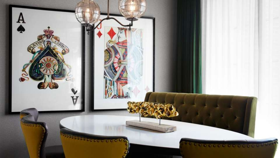 the best in lodging The best in lodging: Meet MGM Resorts! mgm springfield hotel rotunda suite dining table