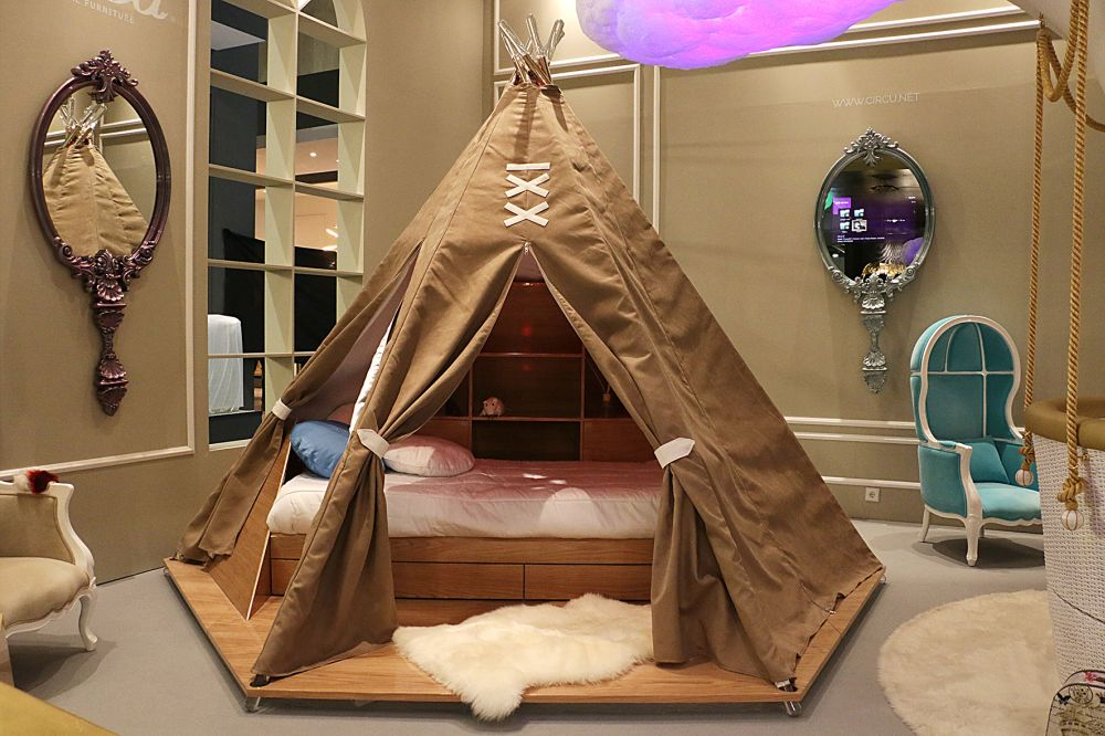 BEDROOM INTERIOR DESIGN, BEST INTERIOR DESIGNERS, COVETED, FAMOUS INTERIOR DESIGNERS, FEATURED, FRENCH INTERIOR DESINGERS, INTERIOR DESIGN, INTERIOR DESIGN step inside the magical world STEP INSIDE THE MAGICAL WORLD OF HIGH-END ITALIAN FURNITURE DESIGN Teepee room from Circus at Maison and Objet Paris 2017